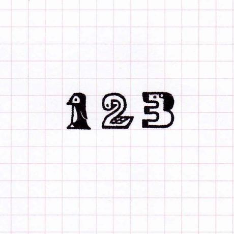 36 Sublo (サブロ) 福田利之 動物 数字 ハンコ セット
