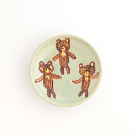 chato|15豆皿 くまさん