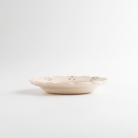 すずきあきこ|4.花型豆皿 花と猫シリーズ