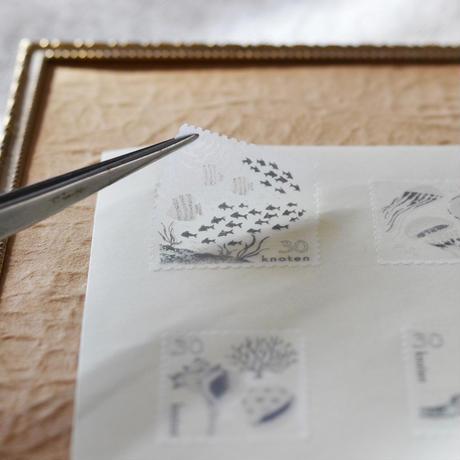緑青社(つるぎ堂+knoten)|knoten 海のたより 手漉き和紙くらげセット