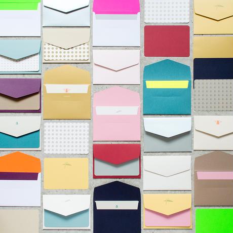 DRESSENSE 【紙博限定・DEADSTOCK】ベルギー製活版印刷カード&封筒set ドット