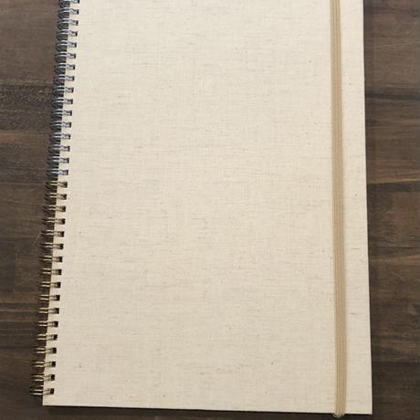 エモジ A4ノート 布貼表紙
