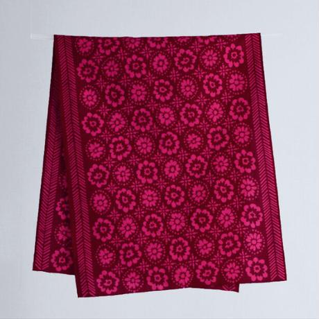 zucu 注染てぬぐい「花壇/ピンク」