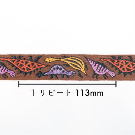 レピヤンリボン|恐竜リボン/ソイルブラウン25mm×ドット/グレー21mm セット( 各1m)