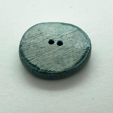 CO- ヴィンテージ陶ボタン2個セット(リーフ・グリーン)