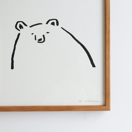 高旗将雄|シルクスクリーン「オホーツク文化な熊」