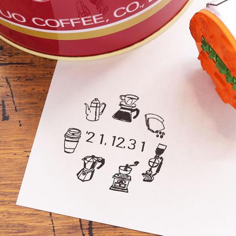 36 Sublo (サブロ) 日付回転印 36mm コーヒーグッズ