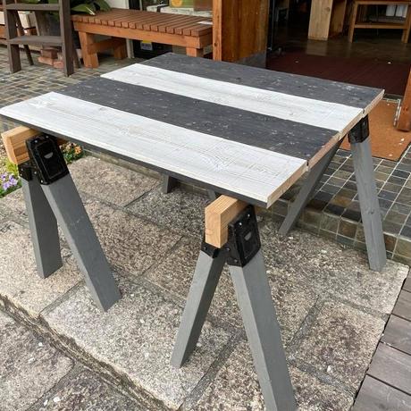 WOODPRO|杉足場板(古材) 15mm厚/ワイルドグレード/黒塗装+サンディング仕上げ