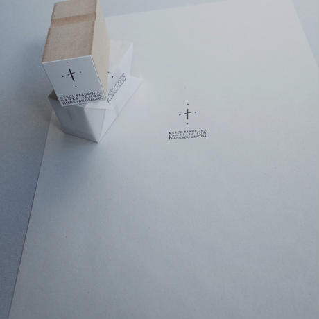 hase|Stamp「cross」【受注商品:12月中発送】