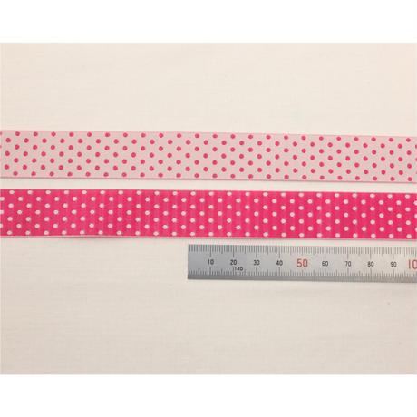 レピヤンリボン|ことり/ピンク×ドット/ピンク21mm セット( 各1m)