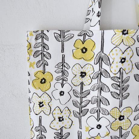 """【10月号掲載分】相原暦 square bag """"hanabatake"""" (yellow)"""
