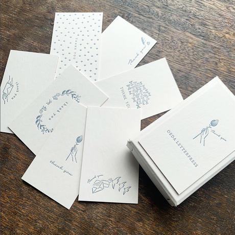 【9月号掲載分】大枝活版室|【活版印刷】限定色 / Thank you card box 紺鼠(カード7種アソート30枚入り)