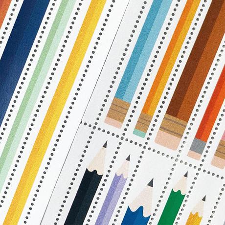 DRESSENSE 【紙博限定】イギリス製切手シール ショート鉛筆