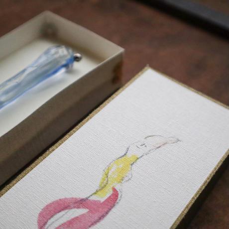 羽鳥景子 × 啓文社印刷|ガラスペン(隅金箱入)「Kumo」