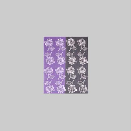 zucu 注染てぬぐい はんぶんサイズ2枚組 Dセット「クローバー/ミント」「ハイドランジア/灰色×紫」