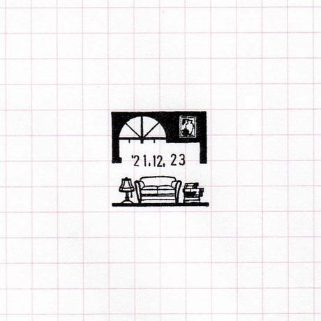 36 Sublo (サブロ)|木軸日付回転印 四角 インテリア