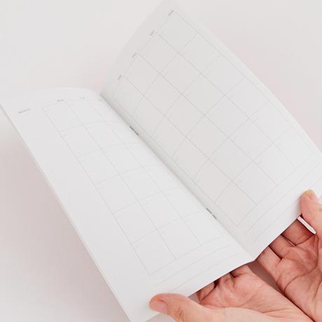 ROCCA|オリジナルノートとマンスリー手帳&メッセージカード  8月号セットA