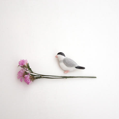 【5月号掲載分】po-to-bo|今月のどうぶつブローチ・文鳥