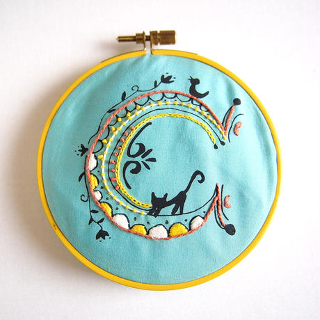 artist in|刺繍CAFE ハンカチキット<cat>