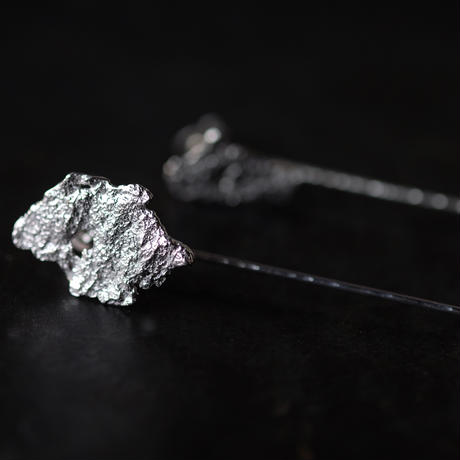 SUNn・寸|朽葉と振り子のピアス・イヤリング(silver)