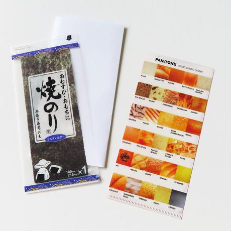 cobato|ミニクリアファイル(焼きのり・PANのTONE・保冷剤風・一味違うスパイス風)」 4種セット