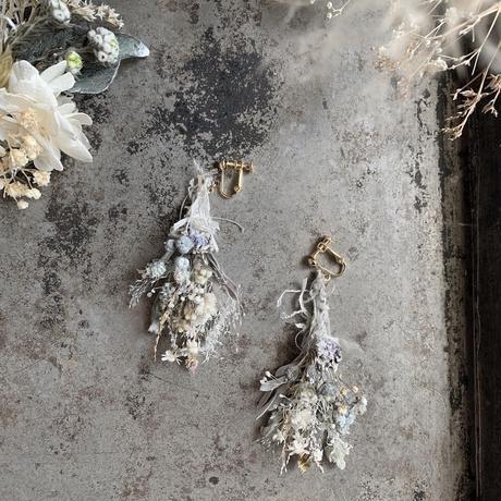 botanical works botanical swag earring / pierce 両耳セット【blue purple】【受注商品:11月中発送】