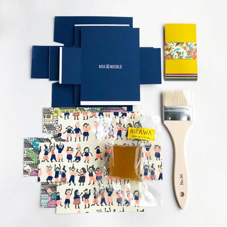 BOX&NEEDLE 貼箱制作キット /PYXIS CARD ブルー