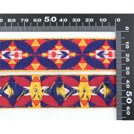 レピヤンリボン チューリップ/レッド×ボーダー/レッド ショコラ21mm セット( 各1m)