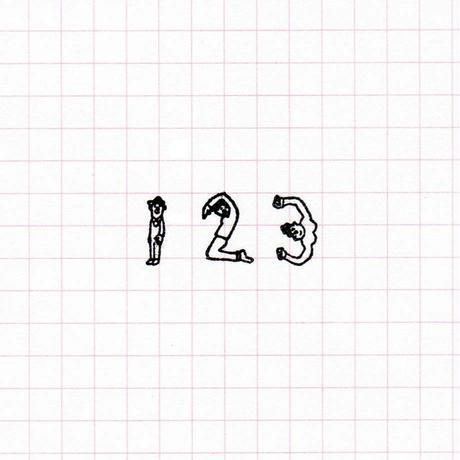 36 Sublo (サブロ) ほしのしほ 人 数字 ハンコ セット