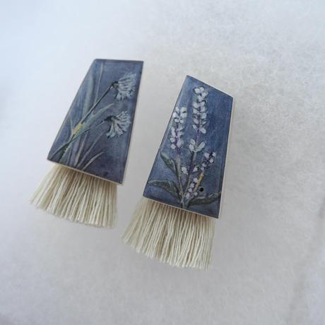 mikimichimasa| - 山野草図 -  紫 tassel pierce PT-4