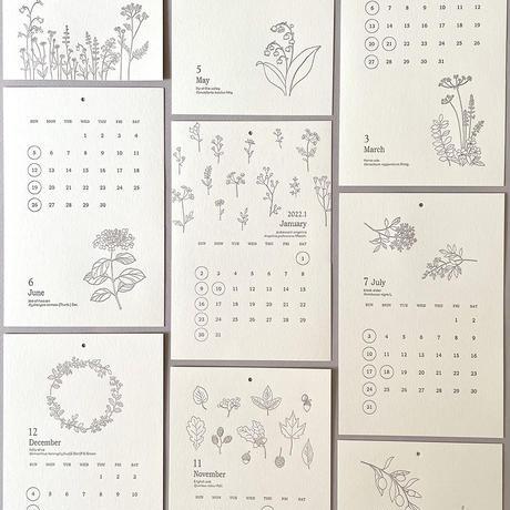 プロペラスタジオ 2022年レタープレスカレンダー