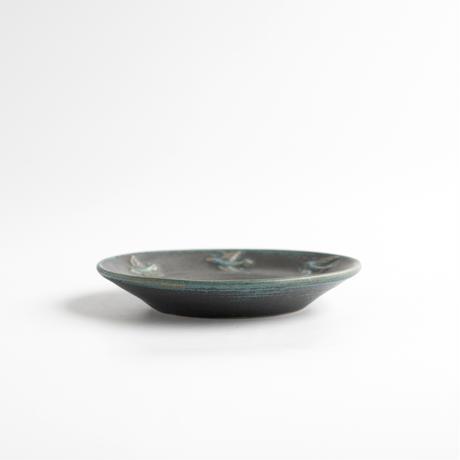 【7月号掲載分】fuji-gallery 27リム小皿(青/鳥)