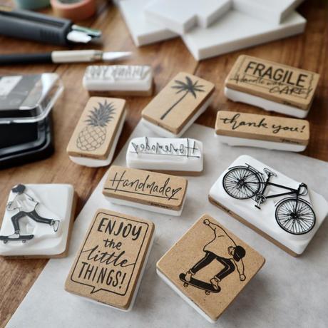 TAM'S WORKS|ヤシの木 手彫りスタンプ