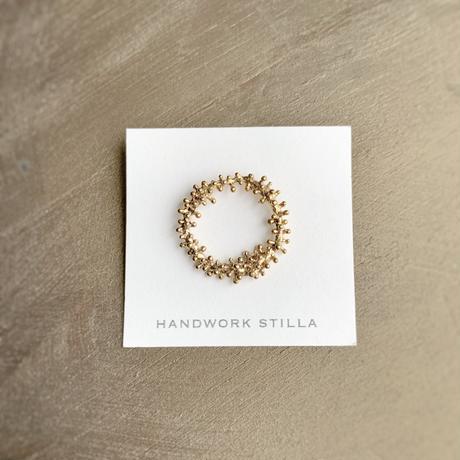 HANDWORK STILLA ワイヤープランツつぶつぶリース小ピンブローチ K14コーティング