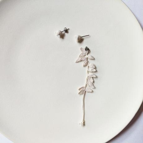 Shizuka, d.s.   Seeds with pearl & Leaves long 【受注商品:11月中発送】