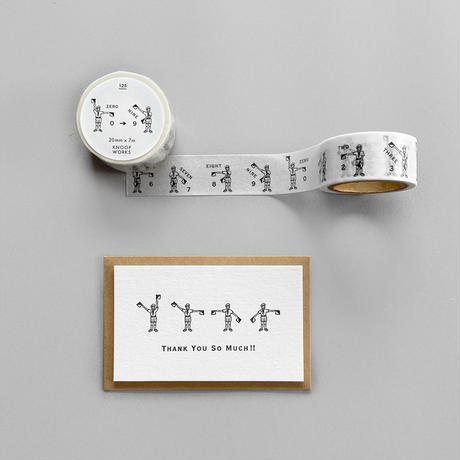 KNOOPWORKS|手旗信号のマスキングテープとカードセット【先行販売】