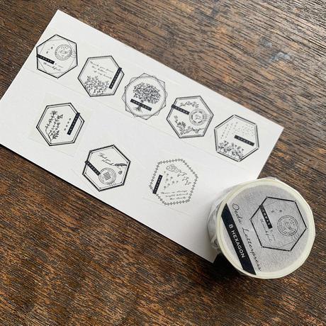 大枝活版室 8pattern Masking tape set
