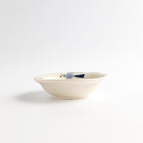 川原れもん|16.トリと赤い実小鉢