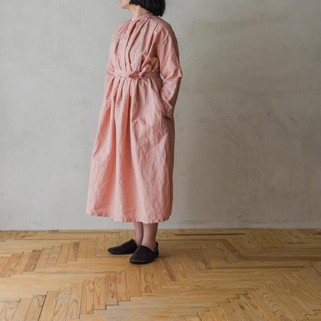 TANSU タックワンピース/ピンク