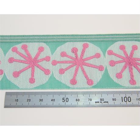 レピヤンリボン ミニ帯チロル/ほうしリボン/53mm/ピンク 1m