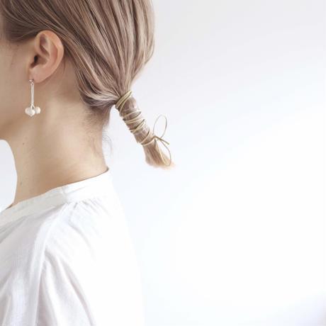 【7月号掲載分】harishigoto|nanakamado耳飾り・off white