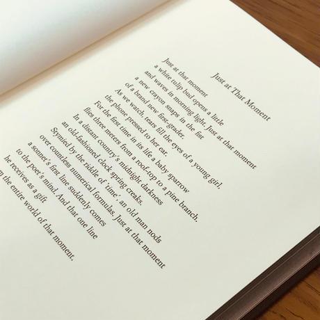 美篶堂+本づくり協会 A5コトノハノート-谷川俊太郎- 『丁度その時』
