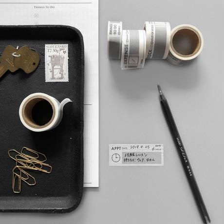 KNOOPWORKS スケジュール管理にお役立ち!書き込めるマスキングテープ3個セット