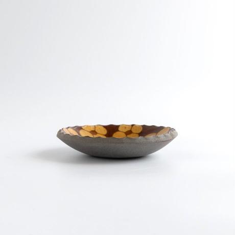 久保田健司|14豆皿 花(黃)