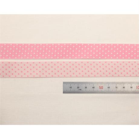 レピヤンリボン|リース/ライト グレー×ドット/ピーチ21mm セット( 各1m)