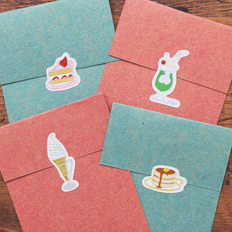 36 Sublo (サブロ)|純喫茶 包装紙パッド・ポストカード・シールの3点セット