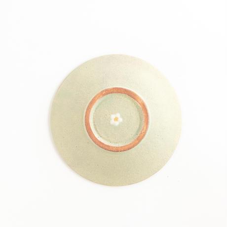 むくり工房 三ッ持啓|5 tiny floretリボンプレートS spring green