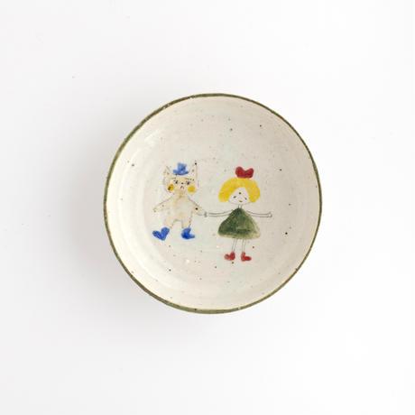 松浦ナオコ|8女の子と猫の男の子の豆皿