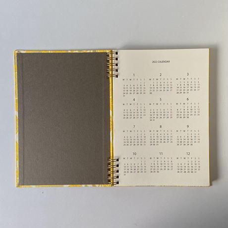 &PAPERS PLAYFUL NOTES 2022年スケジュール帳 kukinta yellow
