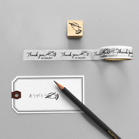 KNOOPWORKS|Thank you so muchマスキングテープとお揃いスタンプセット【限定デザイン】